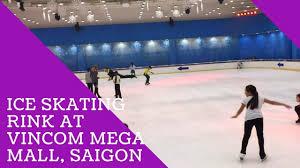 go ice skating rink at ice rink backyard at vincom mega mall