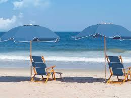 Beach Lounge Chair Umbrella Frankford Umbrellas Oak Wood Beach Lounge Chair With Foot Rest