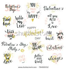wedding quotes printable happy valentines day quotes stock vector 794689312