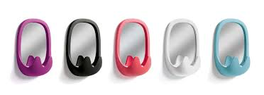 wall mounted mirror contemporary oval by karim rashid