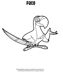 coloring u0026 activity pages paco the parrot coloring page