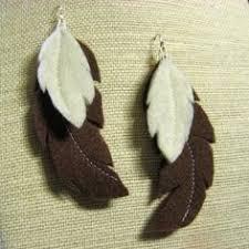 felt earrings simple wire jewellery felt jewellery autum earrings yellow