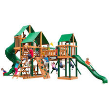 gorilla playsets treasure trove with timber shield and deluxe