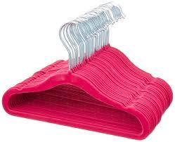 Childrens Coat Hangers Amazon Com Amazonbasics Kids Velvet Hangers 30 Pack Pink Home