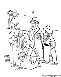 kings coloring pages kids christmas wisemen wise