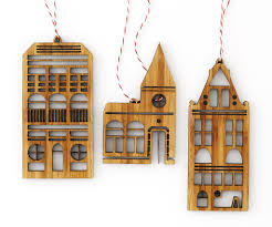 laser cut artwork bamboo tree ornament set amsterdam