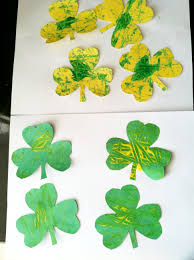 shamrock marble painting craft super mommy to the rescue