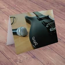 personalised card rockstar guitar personalised cards from