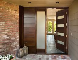 modern entry doors bloombety modern entry doors with brick walls1 modern entry