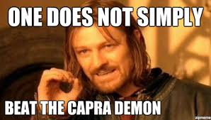 Demon Memes - boromir one does not simply beat the capra demon weknowmemes