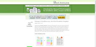 newsletter templates word free free charts templates monthly