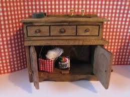 Dollhouse Furniture Kitchen Dollhouse Furniture Kitchen Sink Sink Dark Oakfilled