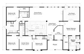 5 bedroom manufactured homes uncategorized mobile home double wide floor plan remarkable with