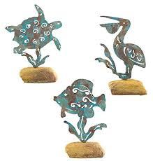 Palm Tree Bathroom Accessories by Sea Turtle And Pelican On Rock Set Of 3 Garden Bathroom