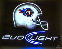 bud light nfl neon sign bud light tennessee titans neon sign nfl teams neon light for sale