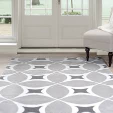 Area Rugs Modern Interior Modern 8 Ft X 10 Ft Gray And White Area Rug For