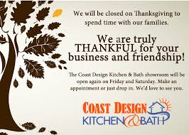 thanksgiving hours 2013 coast design