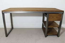 Diy Bike Desk Wood And Metal Industrial Style Desk World Market Regarding Desks