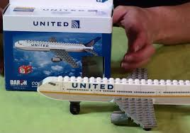 United Airlines American Airlines by Daron United Airlines Jet Lego Compatible Brick Construction Toy