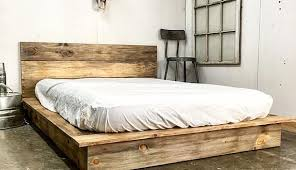 Platform Bed Ideas Amazing Top 25 Best Rustic Platform Bed Ideas On Pinterest
