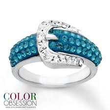 kay jewelers promise rings kay belt buckle ring blue swarovski elements sterling silver