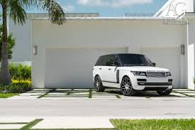 white land rover black rims ag luxury wheels range rover forged wheels