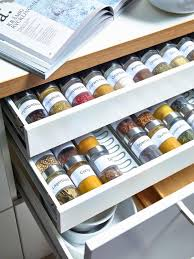 Spice Rack Including Spices Kitchen Wooden Spice Cabinet Seasoning Rack Spice Cupboard