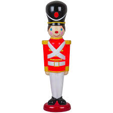 shop holiday living hl blow mold toy soldier at lowes com