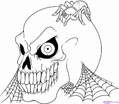 creepy coloring pages scary halloween coloring pages printables