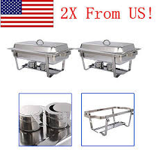Stainless Steel Buffet Trays by 2 Stainless Steel Chafer Chafing Dish Catering Banquet Buffet