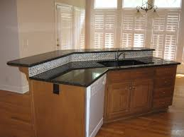 glass countertops kitchen island with sink lighting flooring