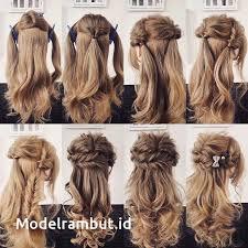 tutorial rambut 15 cara mengikat rambut panjang mudah dan simple step tutorial