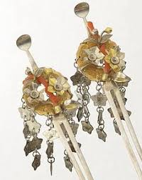 vintage japanese hair accessory geisha hairpin hair comb set