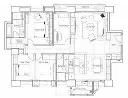 impressive modern apartment floor plan with dimensions 13 one room