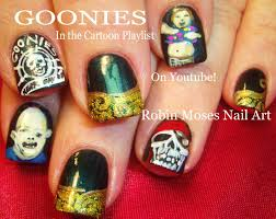 nail art tutorials diy nail design the goonies youtube