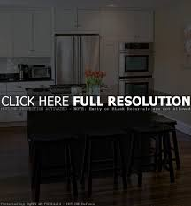 black kitchen island with granite top decoration