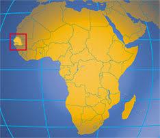 africa map senegal senegal republic of senegal western africa