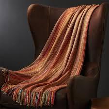 Orange Sofa Throw Shelby Orange Throw Blanket Crate And Barrel