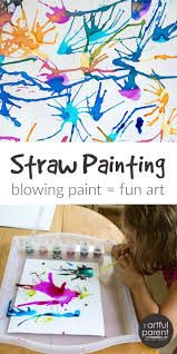blow painting with straws super fun super simple art idea for