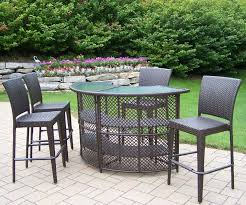 Small Patio Table And Chairs Furniture 3 Piece Bar Height Patio Set Wicker Bar Height Patio