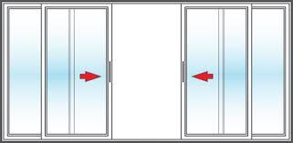 4 Panel Sliding Patio Doors Vinyl Replacement 4 Panel Patio Doors In San Diego Bm Windows