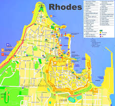 Wisconsin City Map by Rhodes City Tourist Map