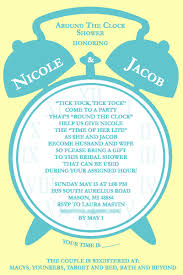 around the clock bridal shower bridal shower invite mollieb design
