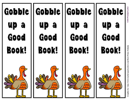 thanksgiving bookmarks gobble up a book