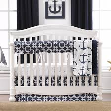 Geometric Crib Bedding by Bedding Set Interesting Navy Blue And Gray Nursery Bedding