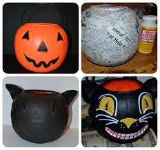 personalized halloween buckets jennuine by rook no 17 vintage style folk art black cat