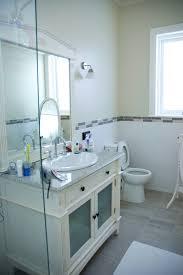 blue grey and white bathroom house design ideas