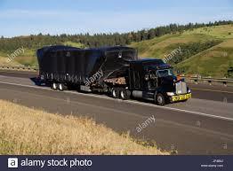 kenworth semi oversize load black kenworth semi truck stock photo royalty