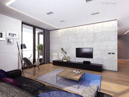 Lcd Panel Designs Furniture Living Room Lcd Tv On White Panel And Wooden Table On Grey Rug Connected By