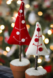 christmas felt trees christmas crafts pinterest felting